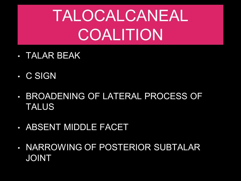 TALOCALCANEAL COALITION