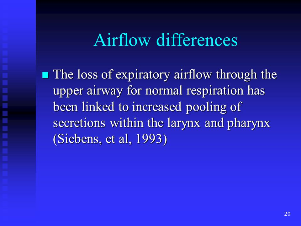Airflow differences