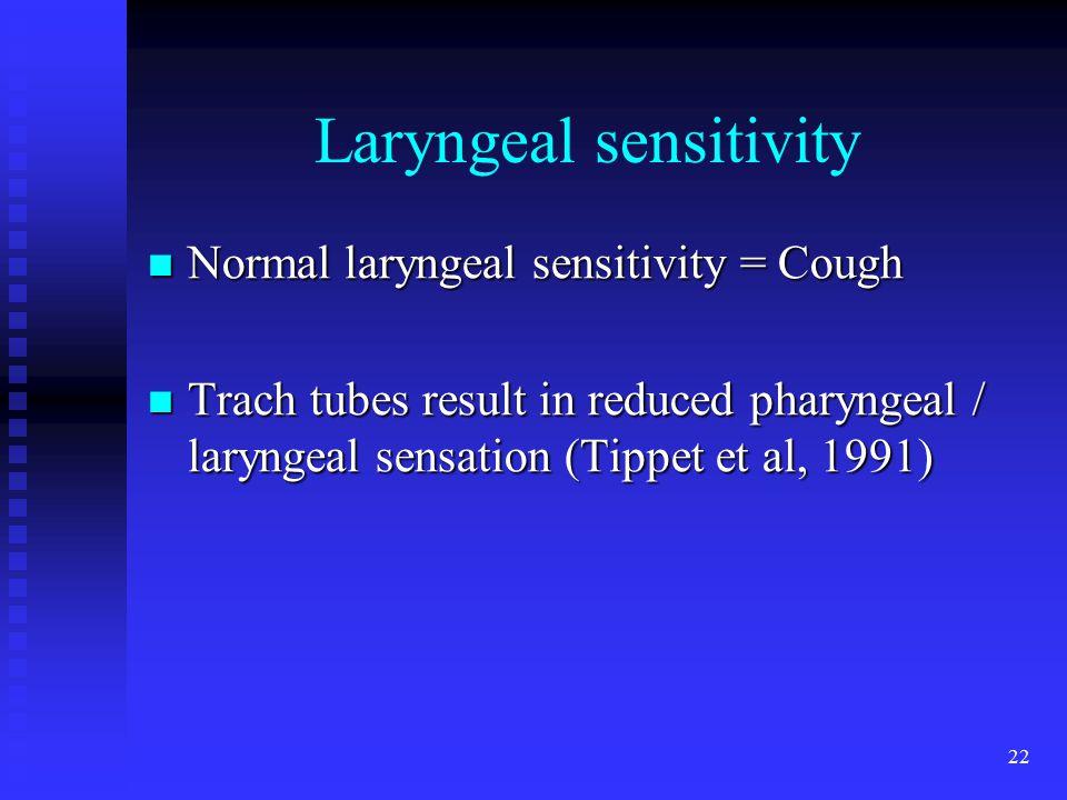 Laryngeal sensitivity
