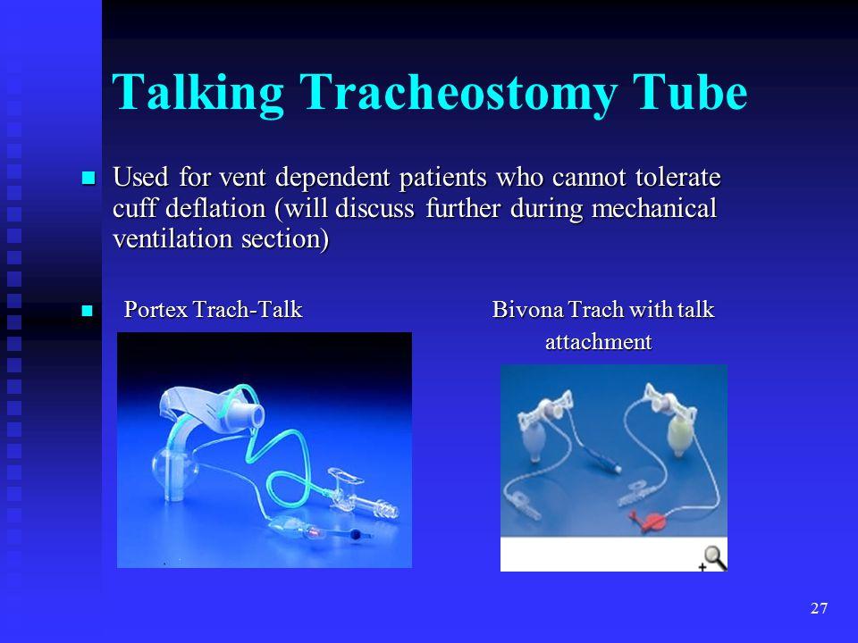 Talking Tracheostomy Tube