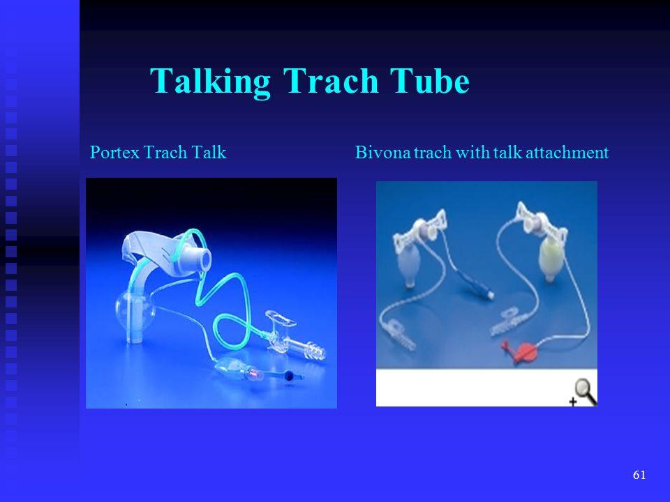 Talking Trach Tube Portex Trach Talk Bivona trach with talk attachment