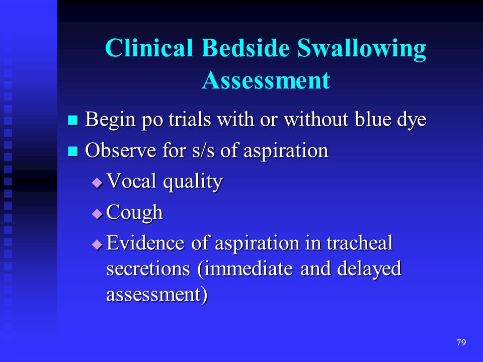 Clinical Bedside Swallowing Assessment
