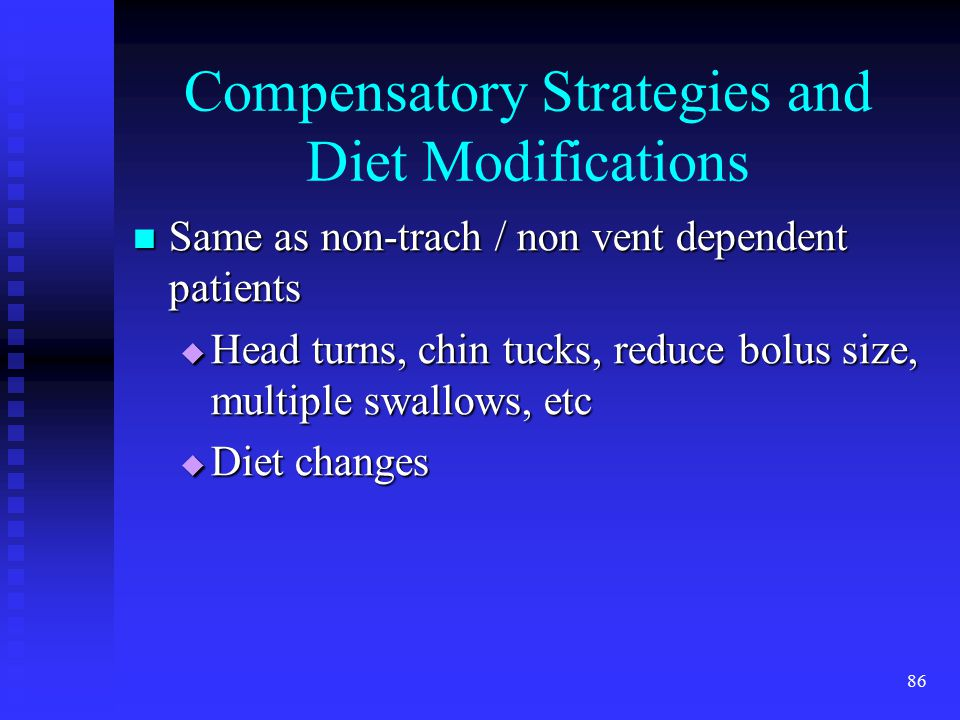Compensatory Strategies and Diet Modifications