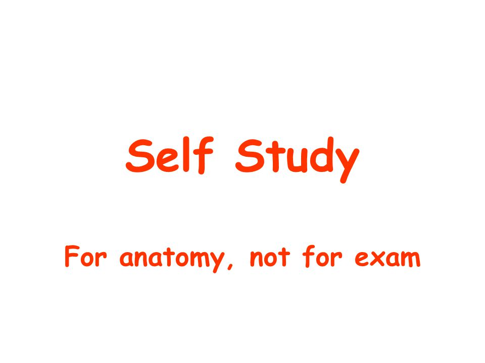 For anatomy, not for exam
