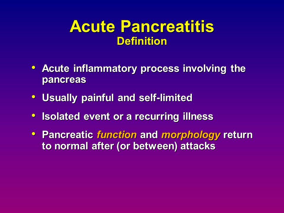 Acute Pancreatitis Definition