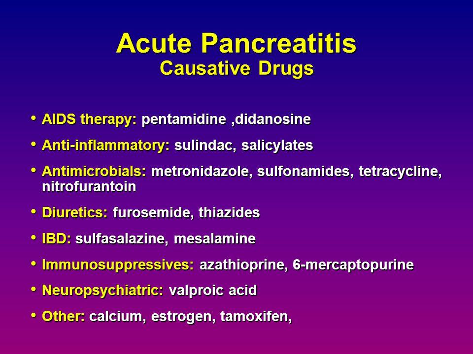 Acute Pancreatitis Causative Drugs