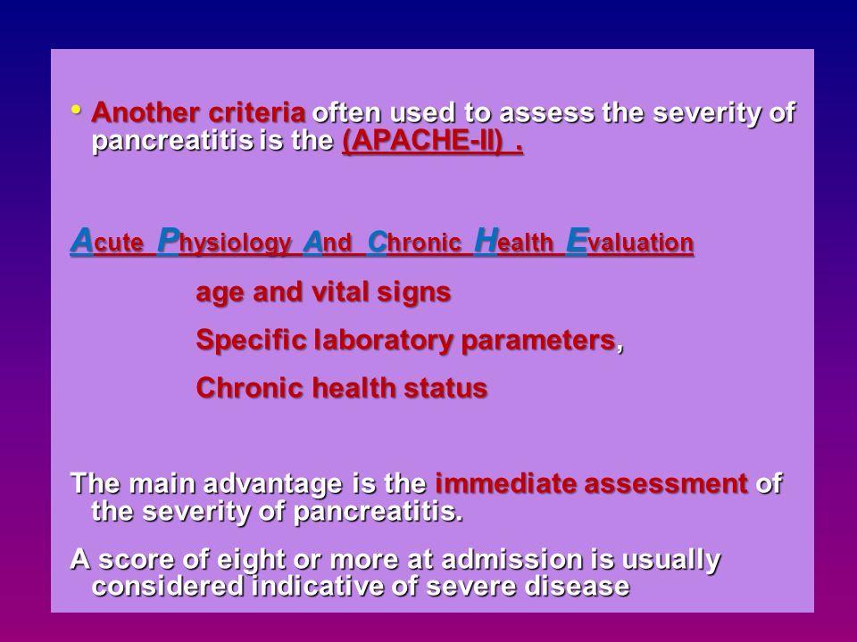 Acute Physiology And Chronic Health Evaluation
