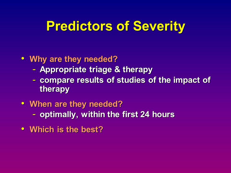 Predictors of Severity