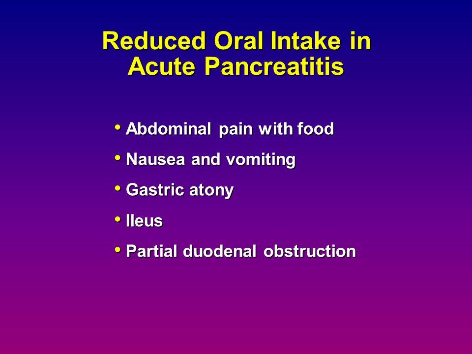 Reduced Oral Intake in Acute Pancreatitis