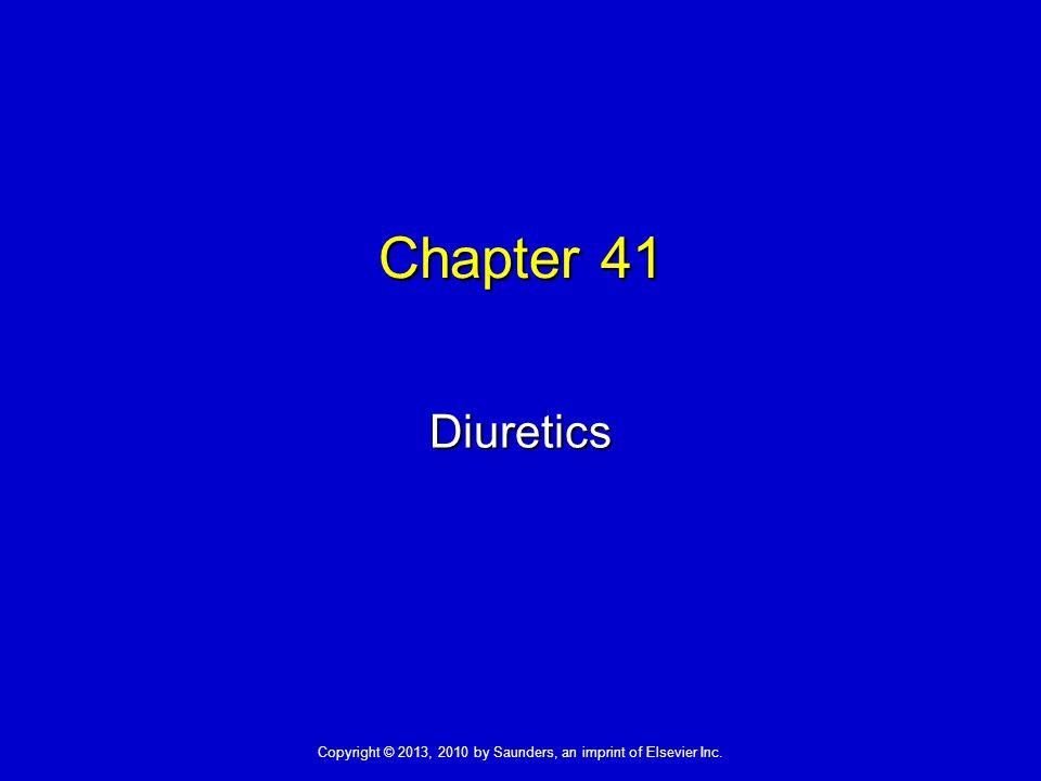 Chapter 41 Diuretics 1