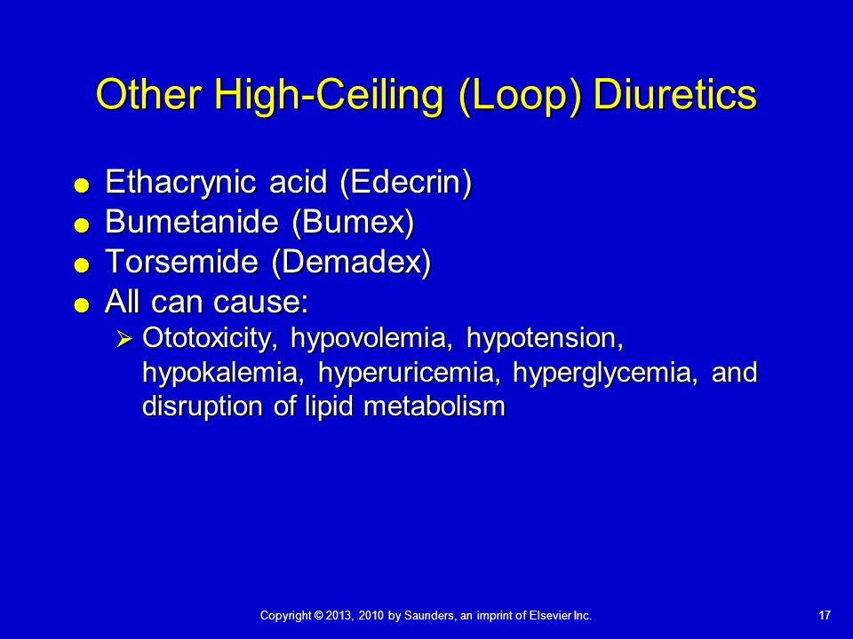 Other High-Ceiling (Loop) Diuretics