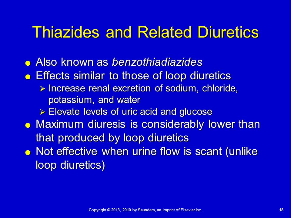 Thiazides and Related Diuretics