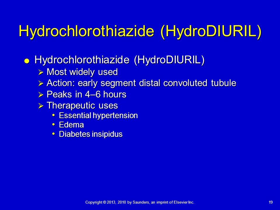 Hydrochlorothiazide (HydroDIURIL)