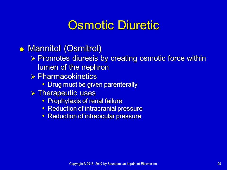 Osmotic Diuretic Mannitol (Osmitrol)