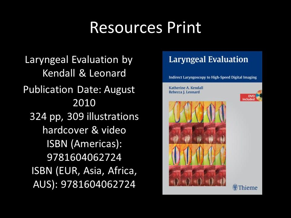 Laryngeal Evaluation by Kendall & Leonard