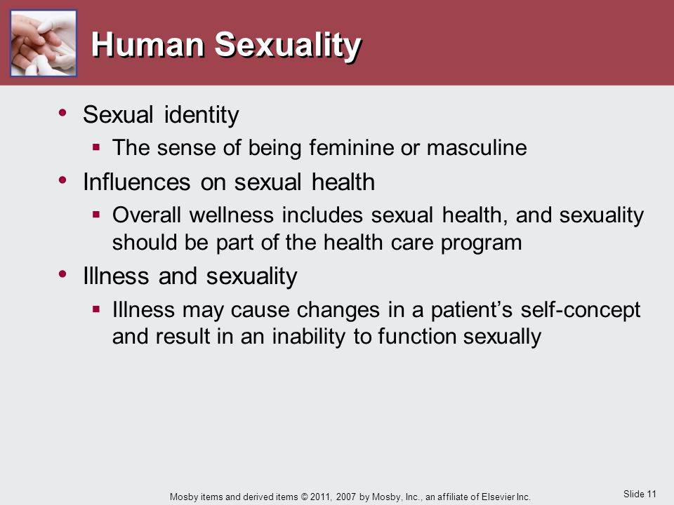 Human Sexuality Sexual identity Influences on sexual health