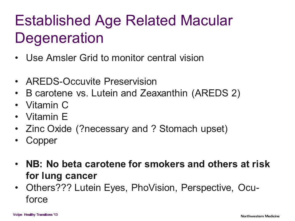 Established Age Related Macular Degeneration