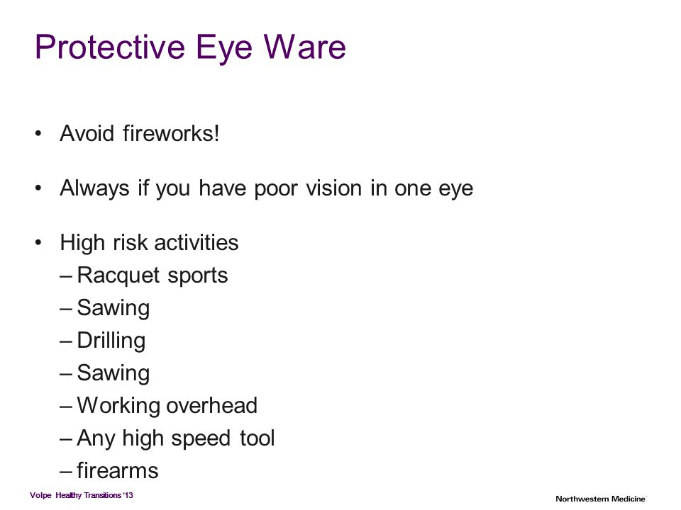 Protective Eye Ware Avoid fireworks!