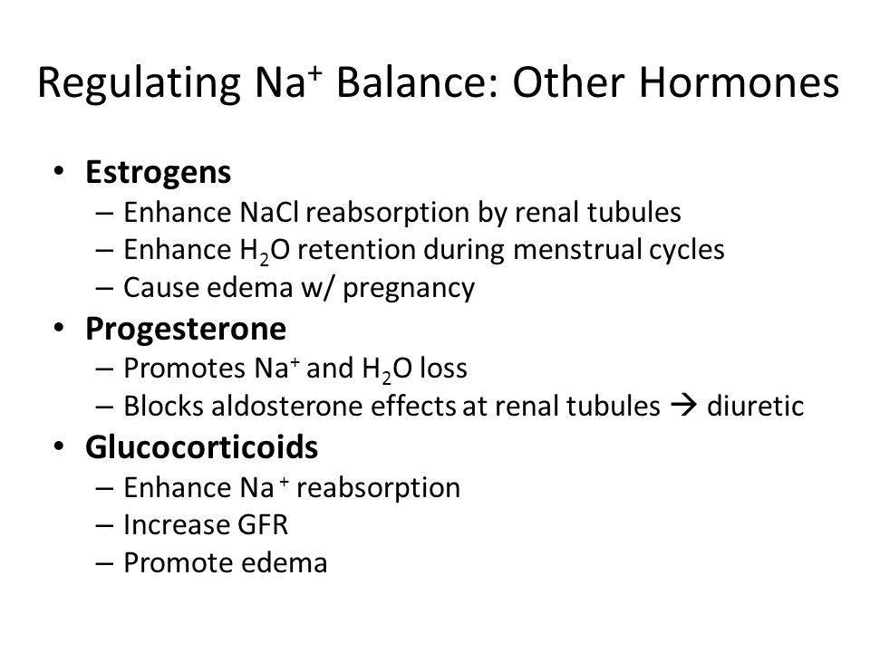 Regulating Na+ Balance: Other Hormones