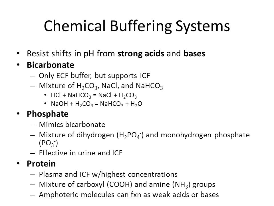 Chemical Buffering Systems