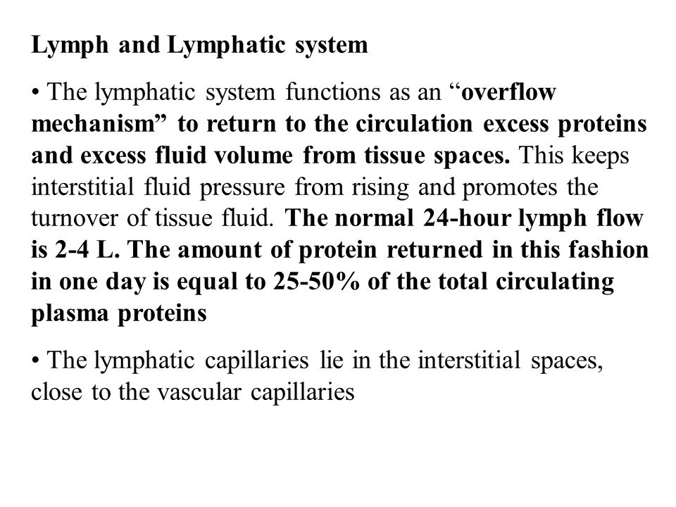 Lymph and Lymphatic system
