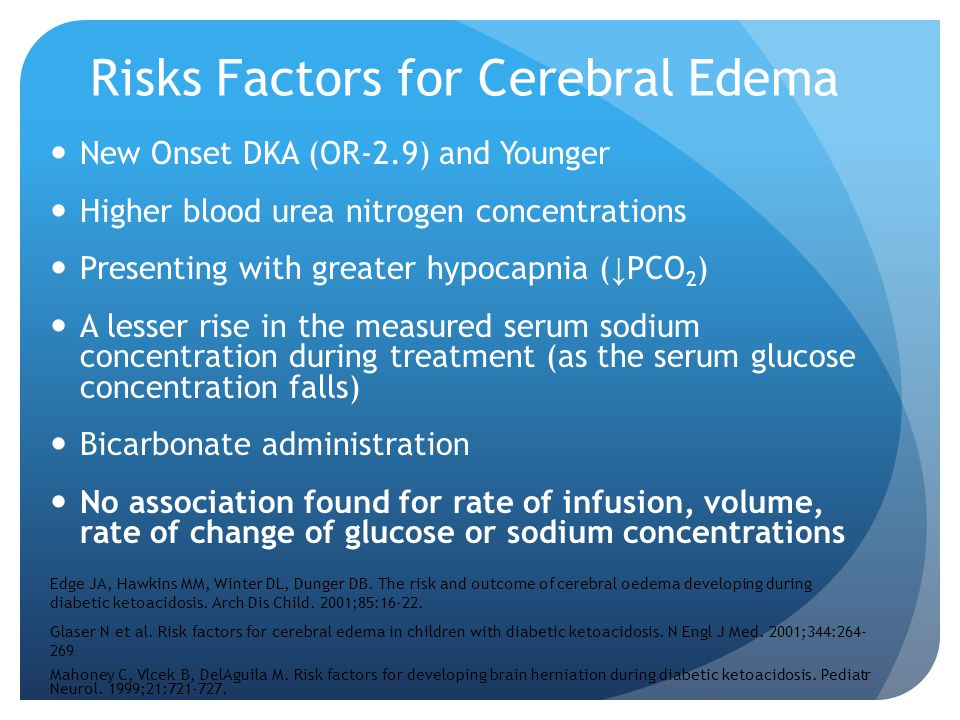 Risks Factors for Cerebral Edema