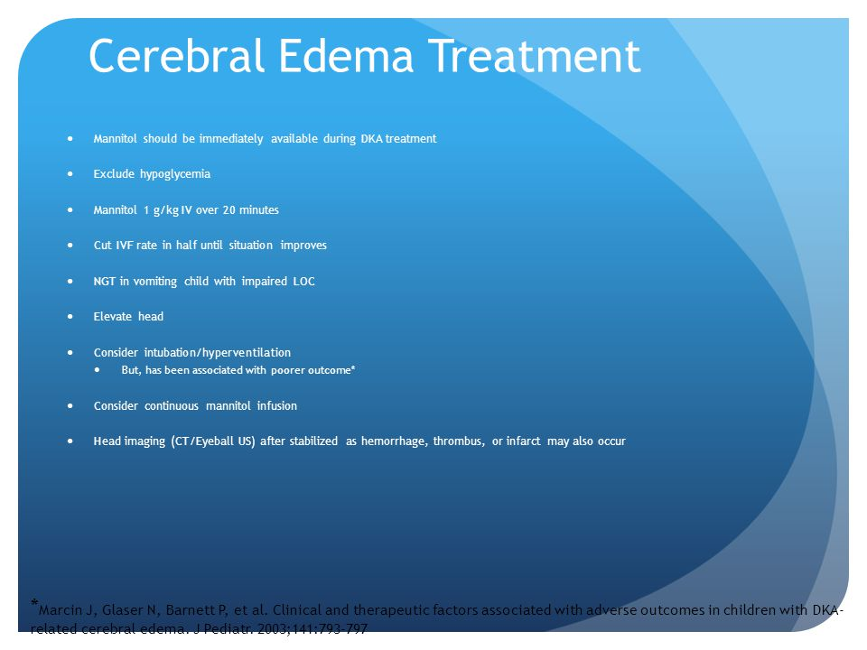 Cerebral Edema Treatment