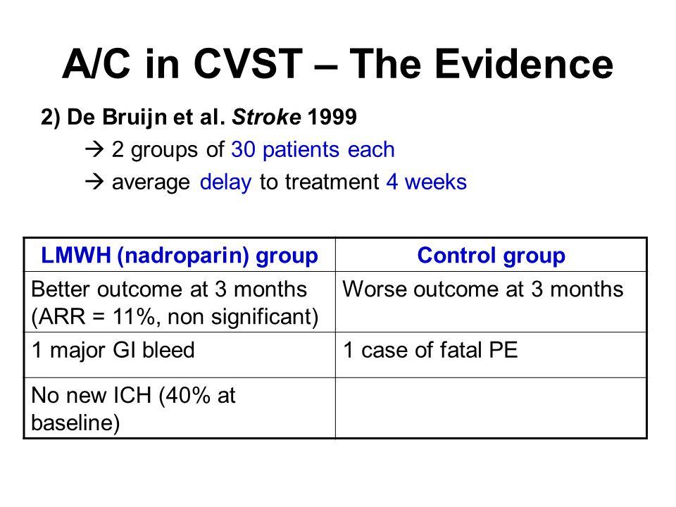 A/C in CVST – The Evidence