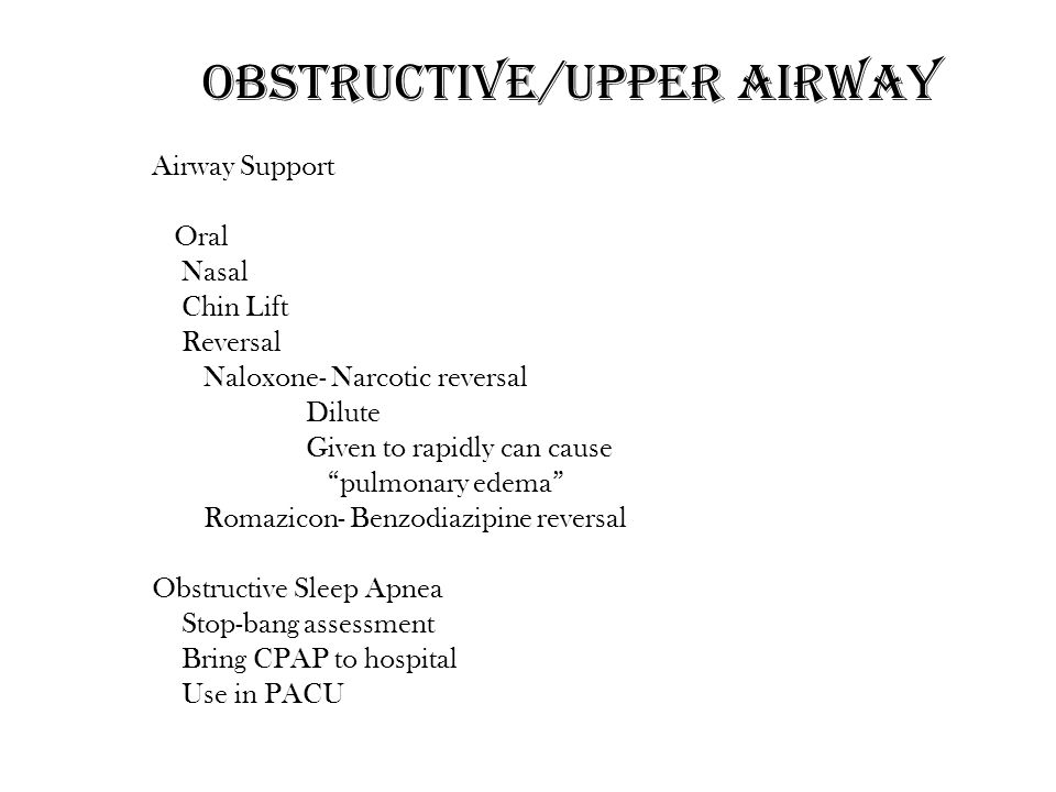 Obstructive/Upper airway