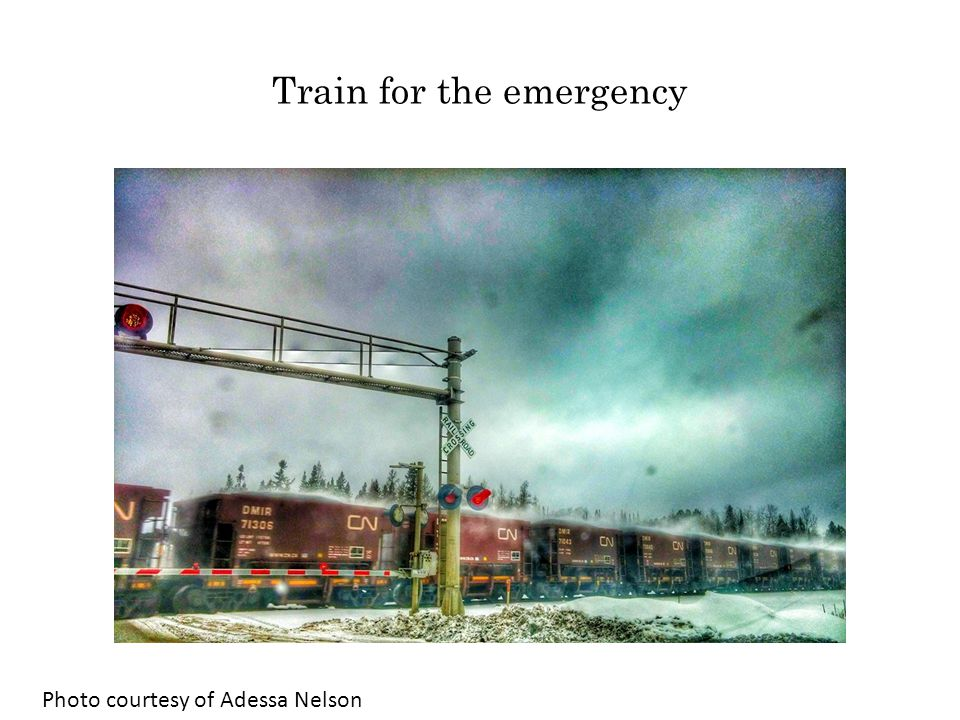Train for the emergency