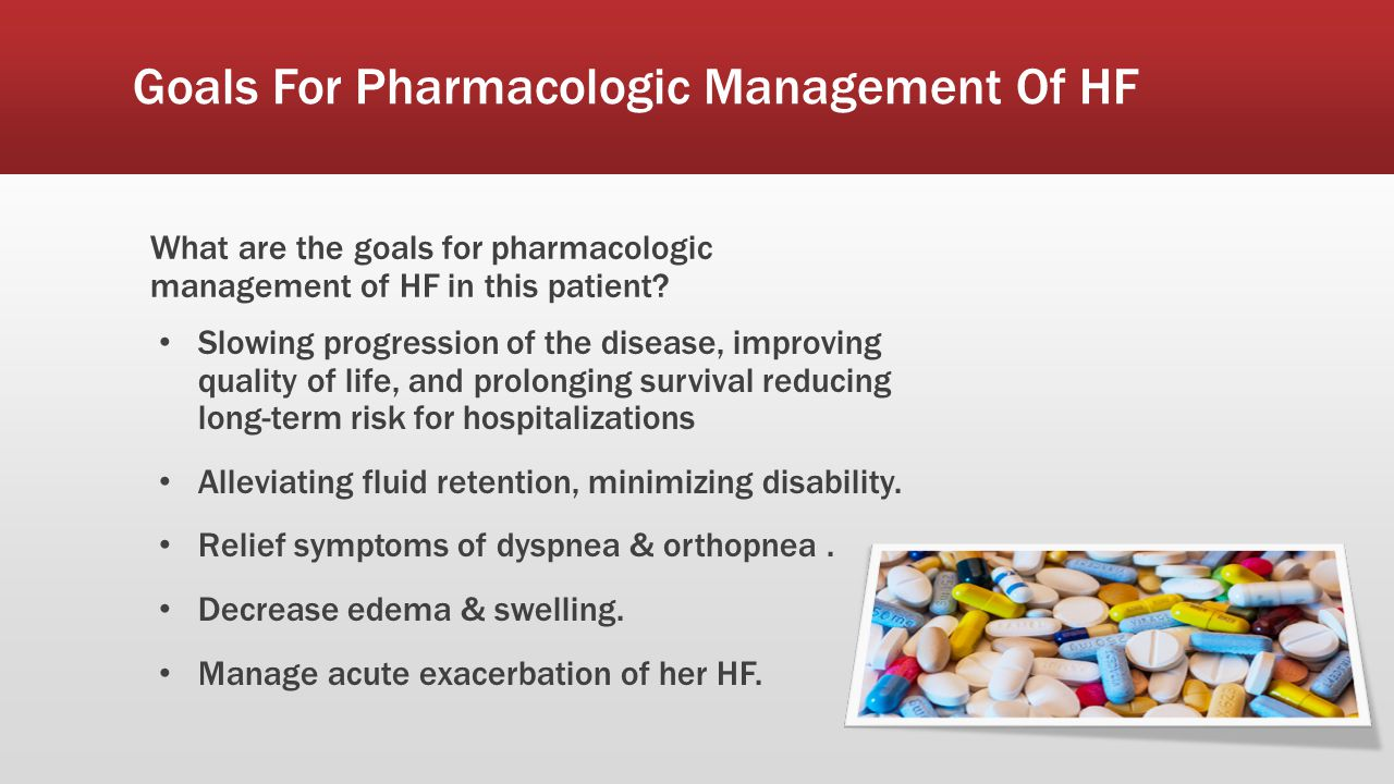 Goals For Pharmacologic Management Of HF