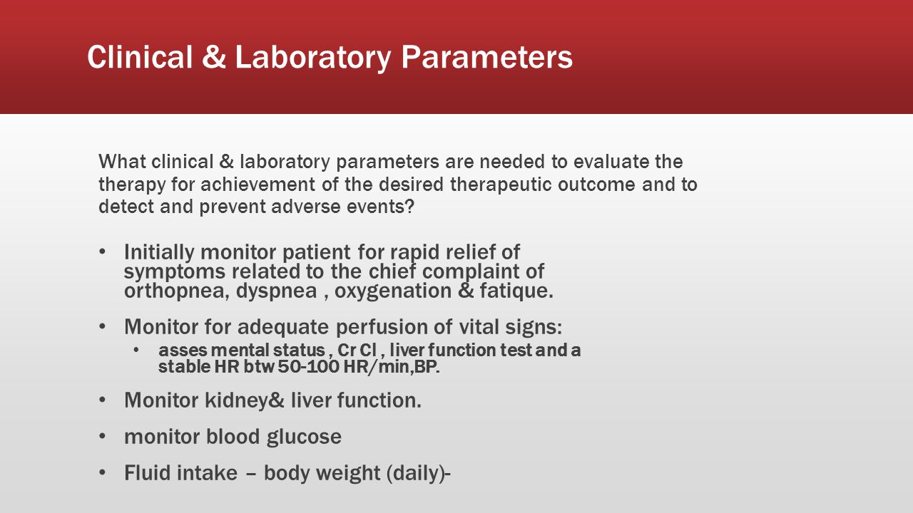 Clinical & Laboratory Parameters