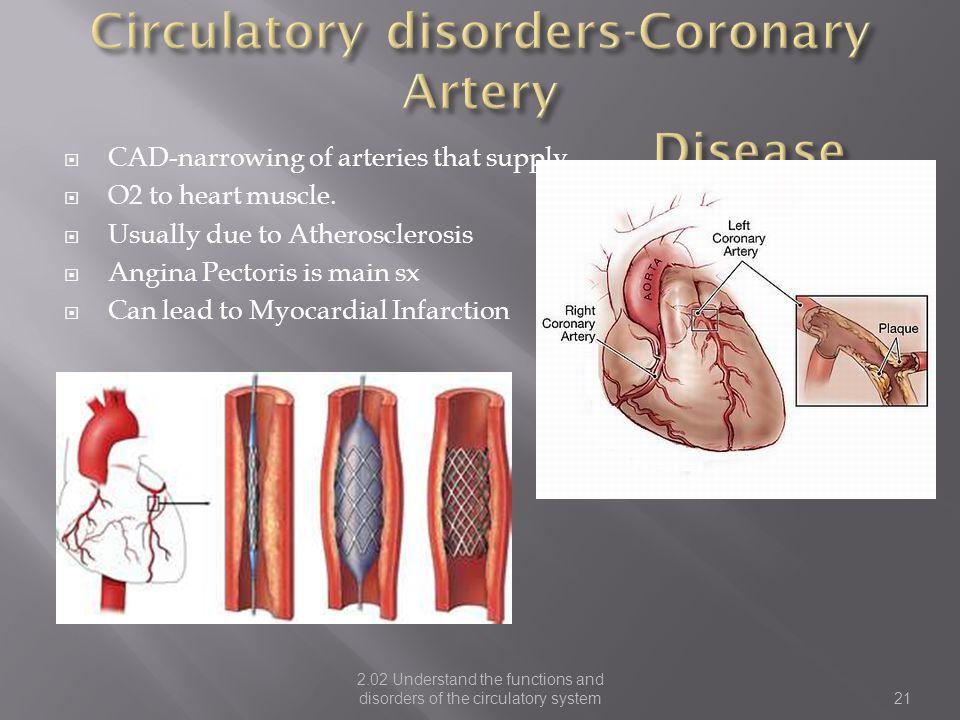 Circulatory disorders-Coronary Artery Disease