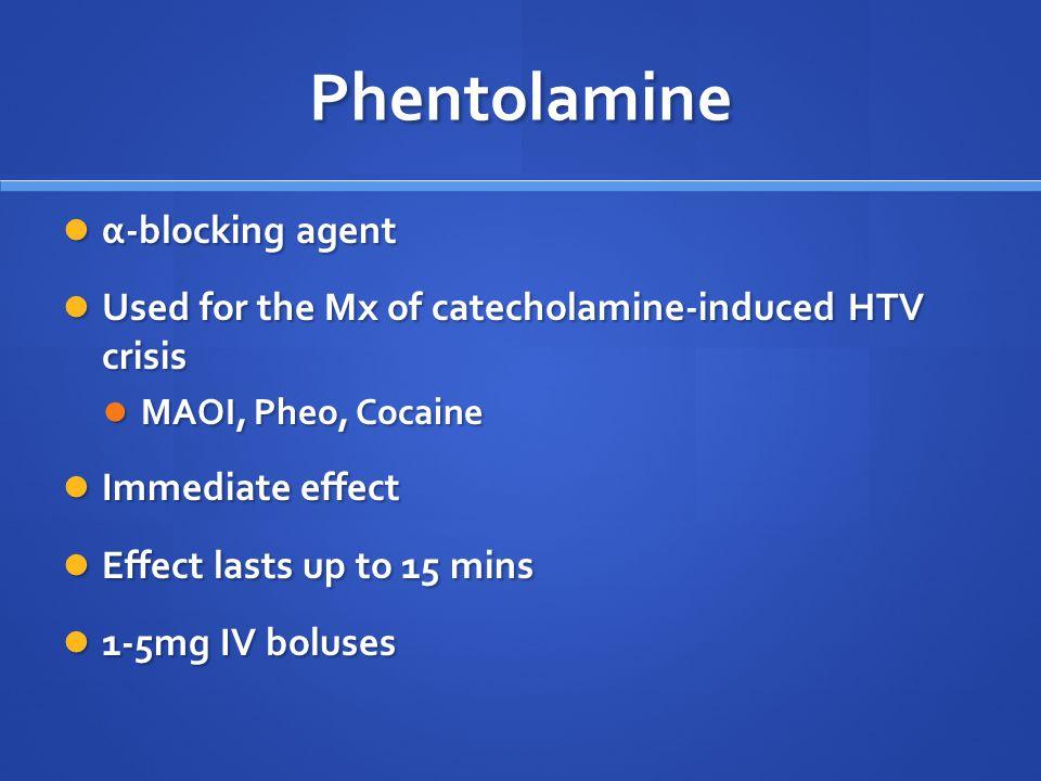 Phentolamine α-blocking agent
