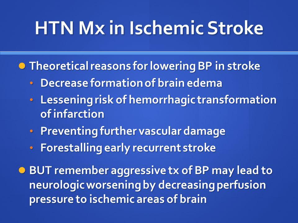 HTN Mx in Ischemic Stroke