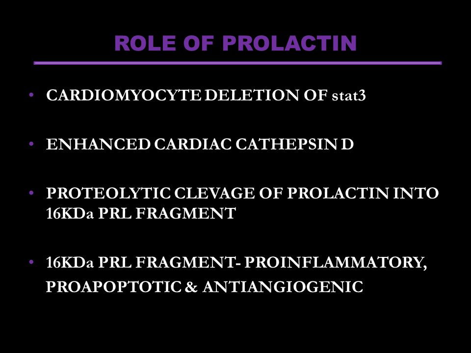 ROLE OF PROLACTIN CARDIOMYOCYTE DELETION OF stat3