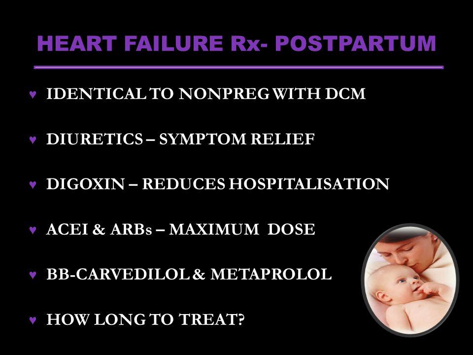 HEART FAILURE Rx- POSTPARTUM
