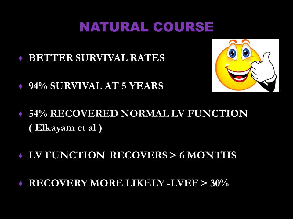 NATURAL COURSE BETTER SURVIVAL RATES 94% SURVIVAL AT 5 YEARS