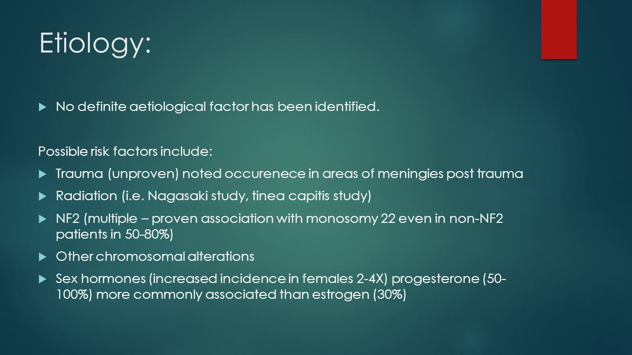 Etiology: No definite aetiological factor has been identified.