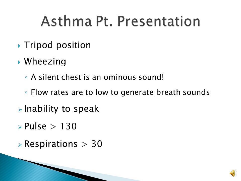 Asthma Pt. Presentation