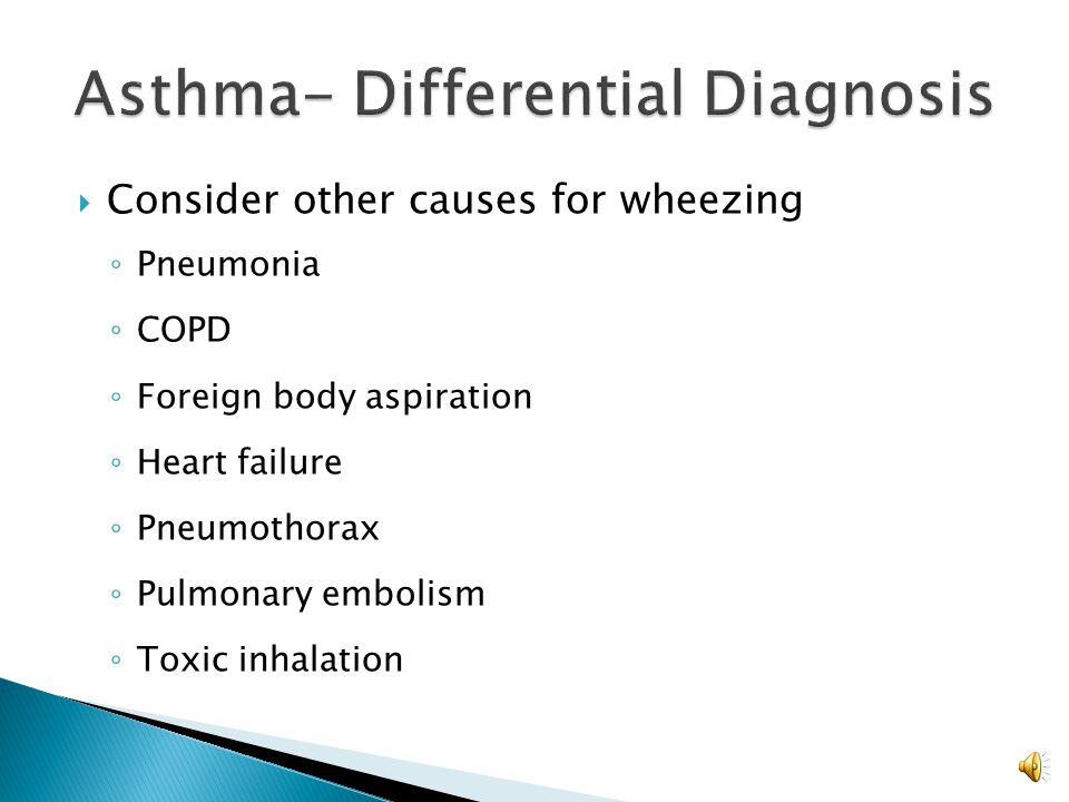Asthma- Differential Diagnosis