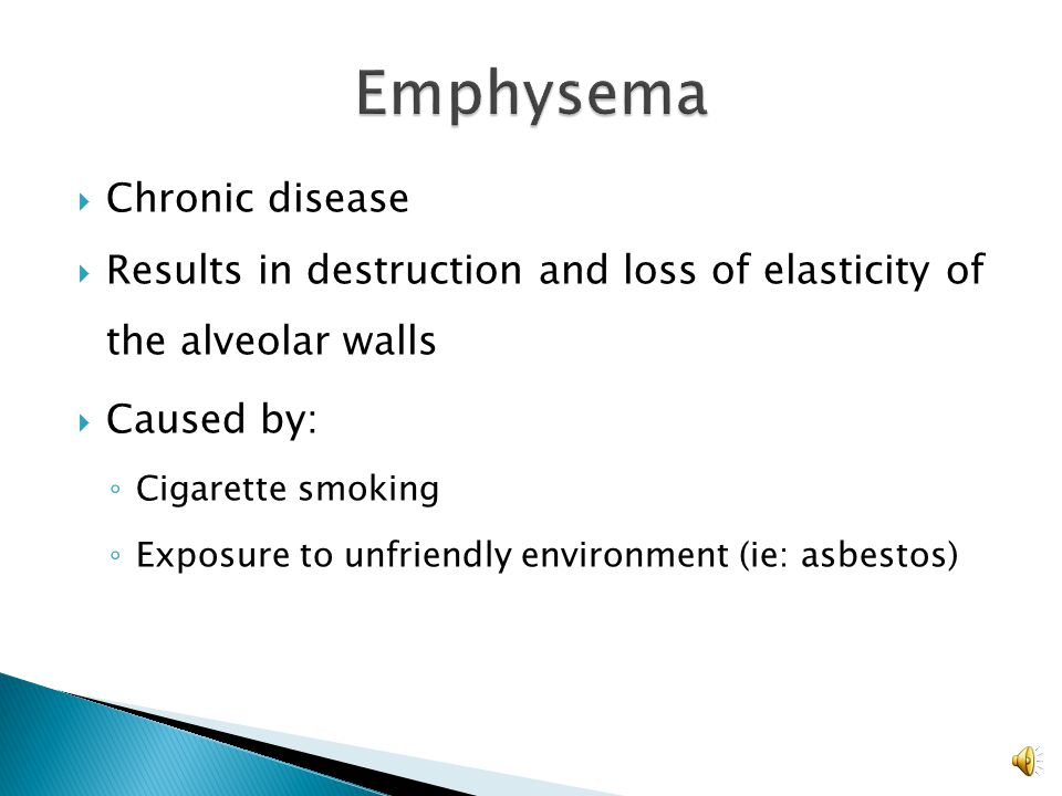 Emphysema Chronic disease