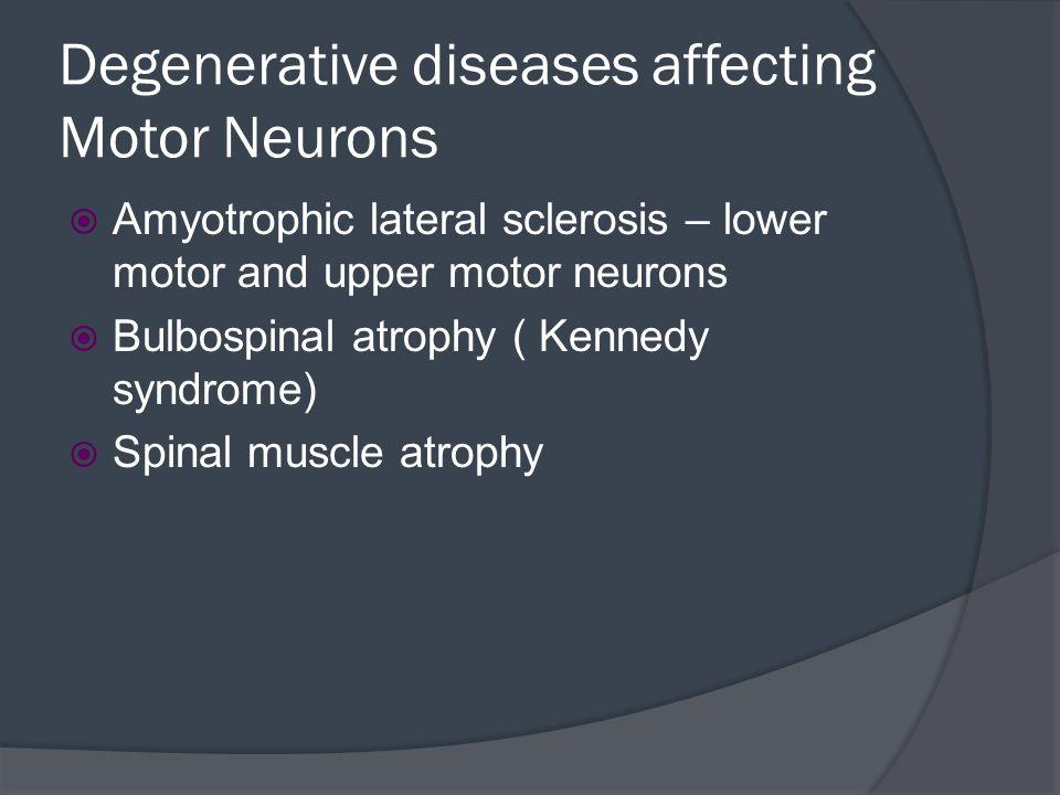 Degenerative diseases affecting Motor Neurons