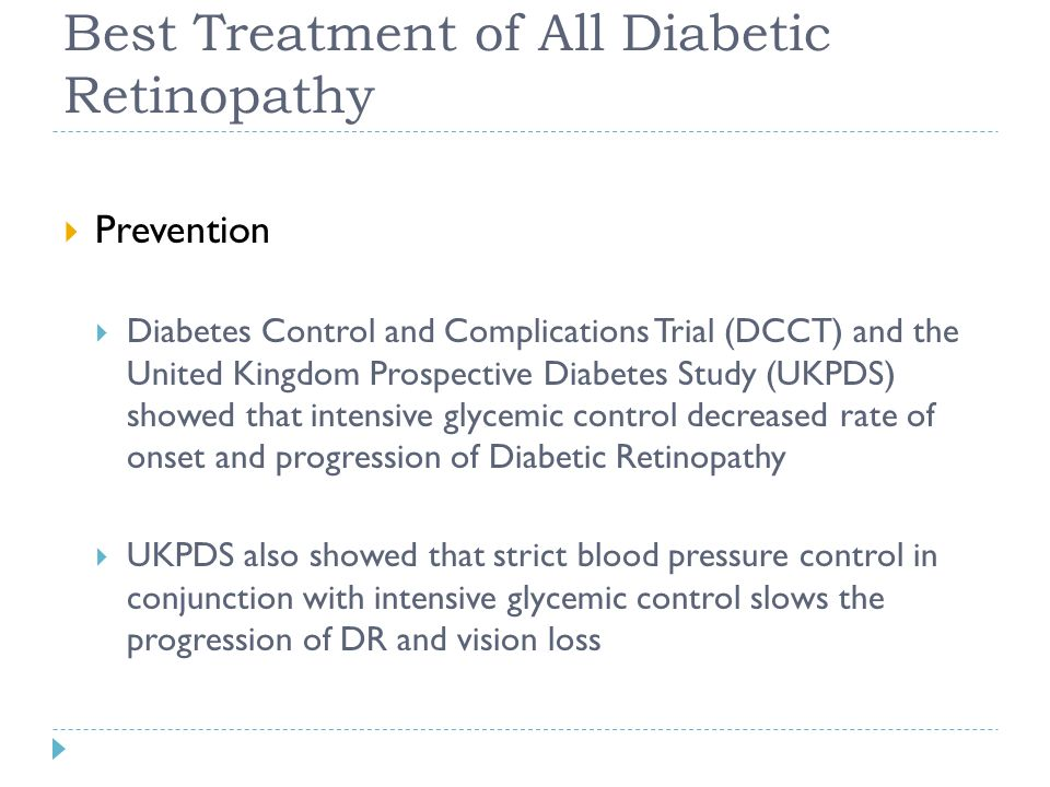 Best Treatment of All Diabetic Retinopathy