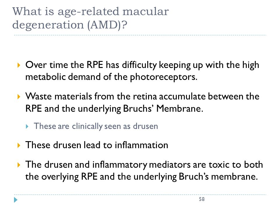 What is age-related macular degeneration (AMD)