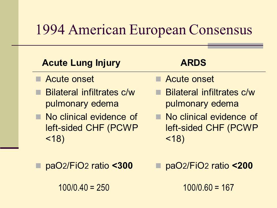 1994 American European Consensus