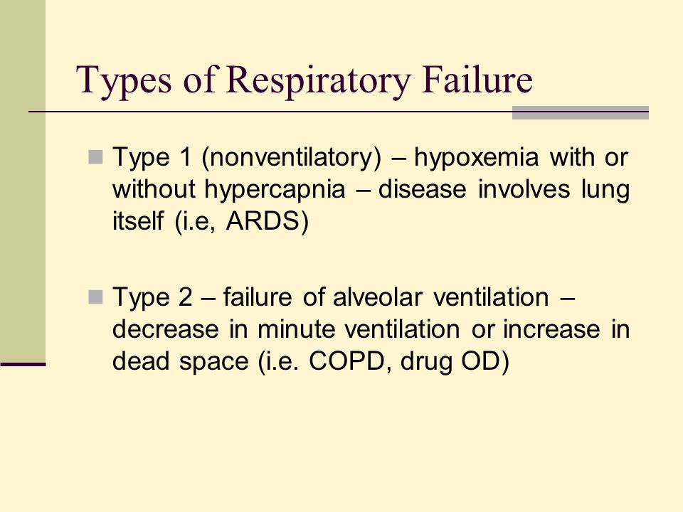 Types of Respiratory Failure