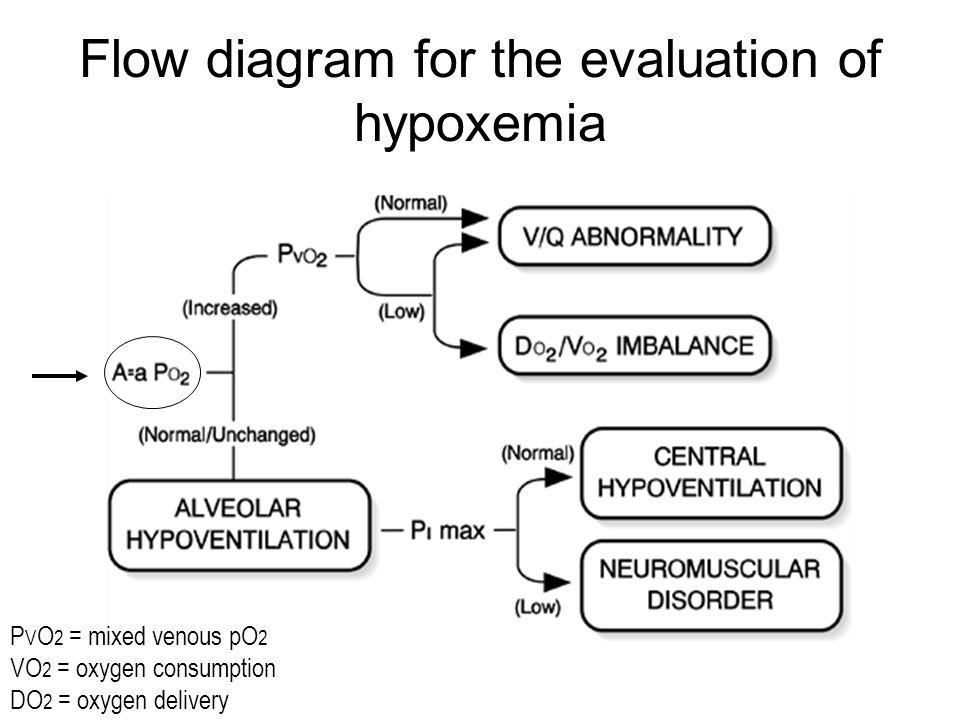 Flow diagram for the evaluation of hypoxemia