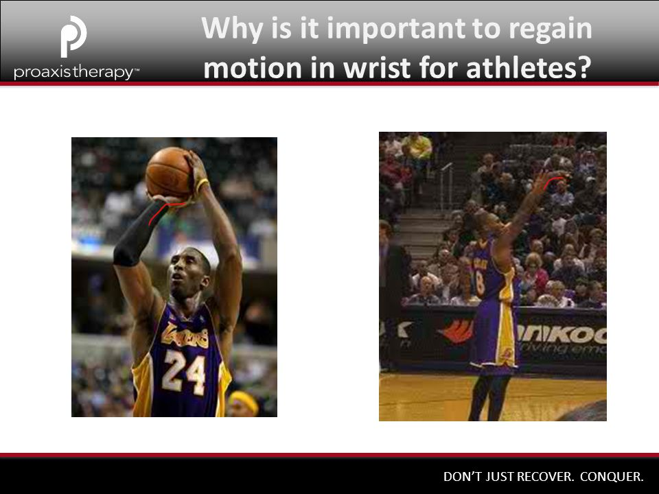 Why is it important to regain motion in wrist for athletes