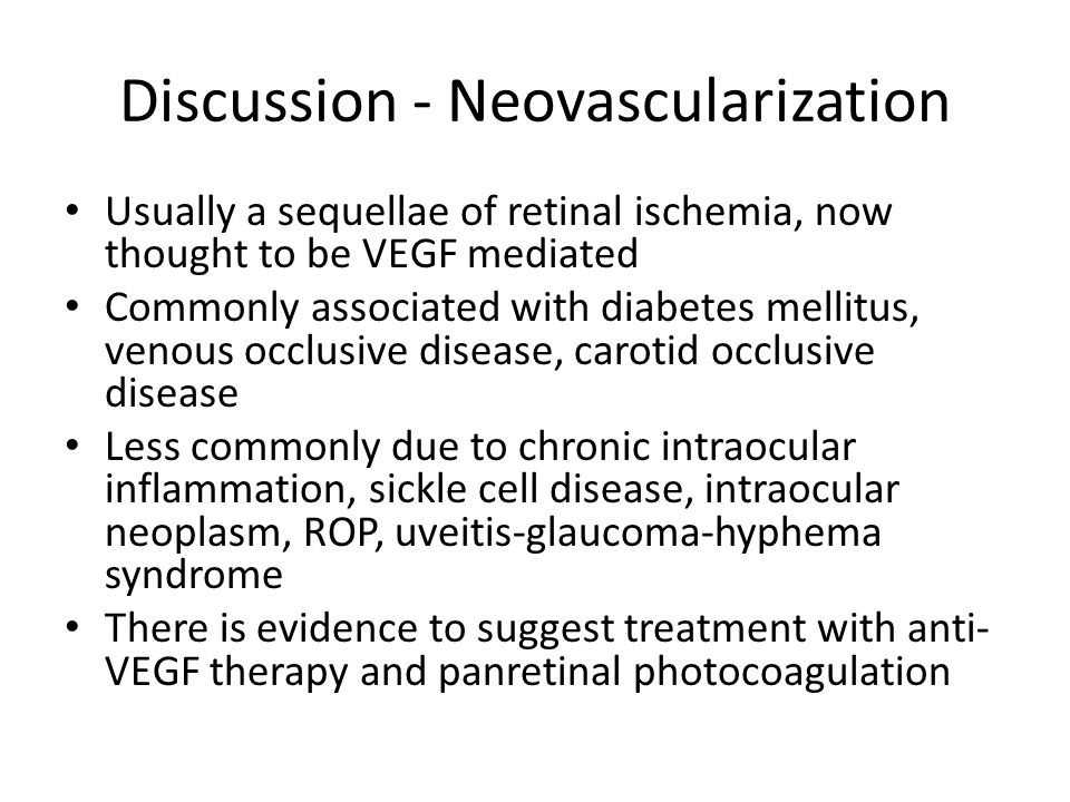 Discussion - Neovascularization